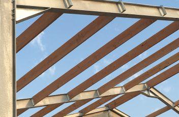 industriebouw - plaatsing dakgebinte